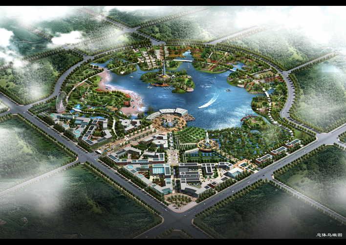 图纸 园林设计图 景观规划设计 风景区及度假村景观规划设计图 西山湖