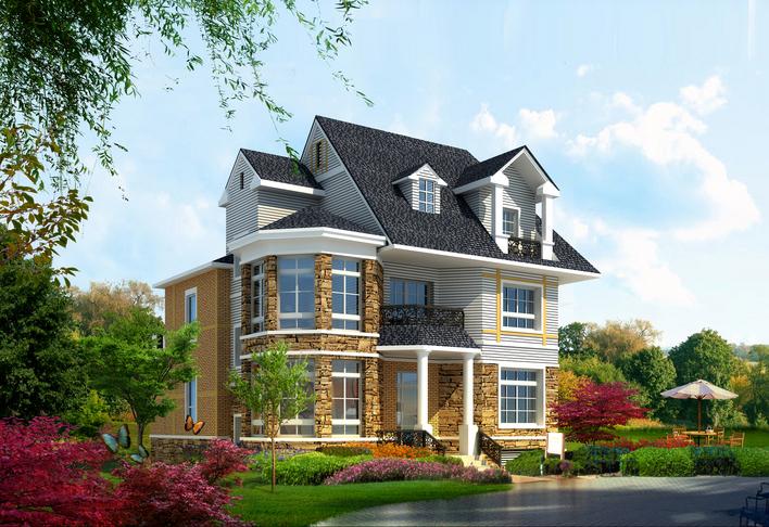 急求 农村小别墅建筑设计图! 我们的 地基是长13米宽10米!图片