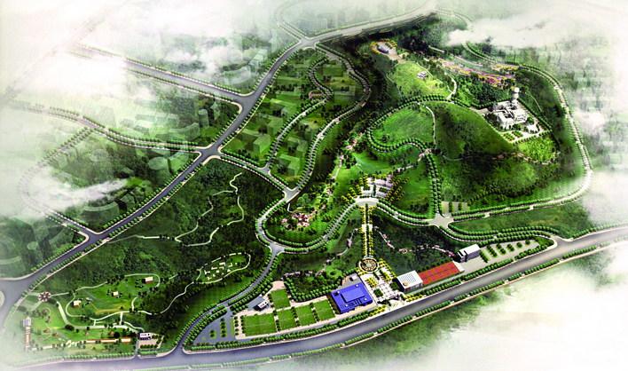 森林公园鸟瞰图