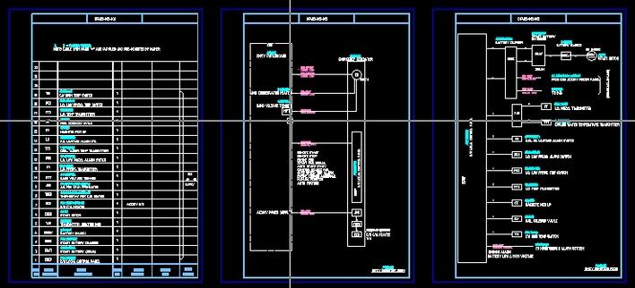 3kv汽轮发电机组出线小间电气施工图 柴油发电机组应急电气控制图(二