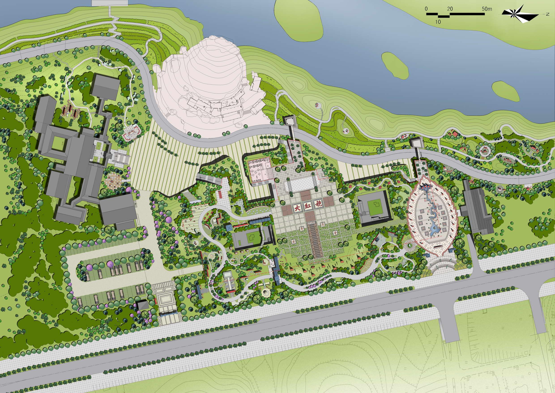 图纸 园林设计图 园林景观效果图 园林景观手绘图 茶文化生态景点旅游