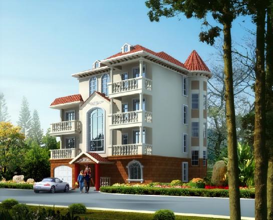 四层 自  建  房屋  设计 带效果图 农村四层楼房施工图  自  建 复式