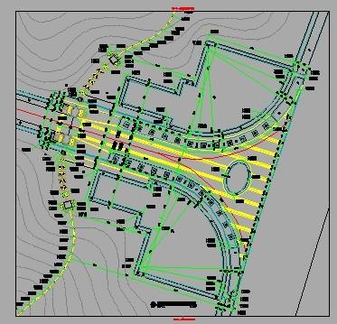 公园入口广场平面详图