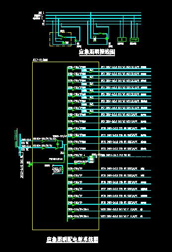 应急照明配电系统图 应急照明配电箱系统图 应急照明双电源 应急照明