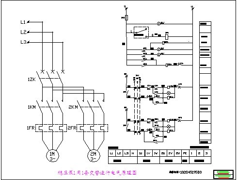 某地一用一备排水泵自动切换原理图及接线图 稳压泵一用一备交替运行