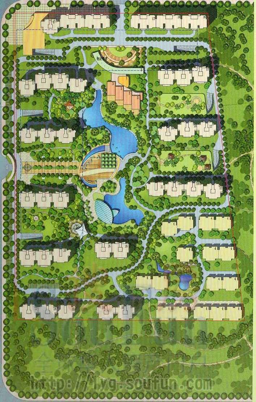 住宅 小区 总平面布置图高清图片