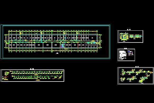 厂房cad平面布置图  所属分类:厂区施工 小区排水设计图 给排水图纸