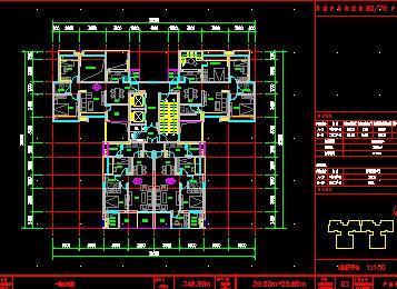 图纸 建筑图纸 居住建筑 户型图 一套2011万科一梯四户型  上传时间