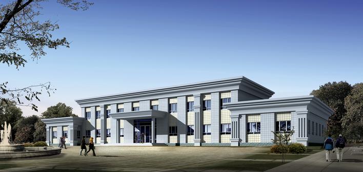 二层办公楼建筑施工图 办公楼建筑施工图 二层办公楼施工图 农村两层