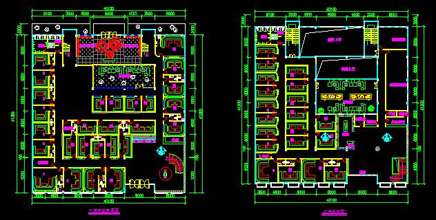 二层ktv平面图