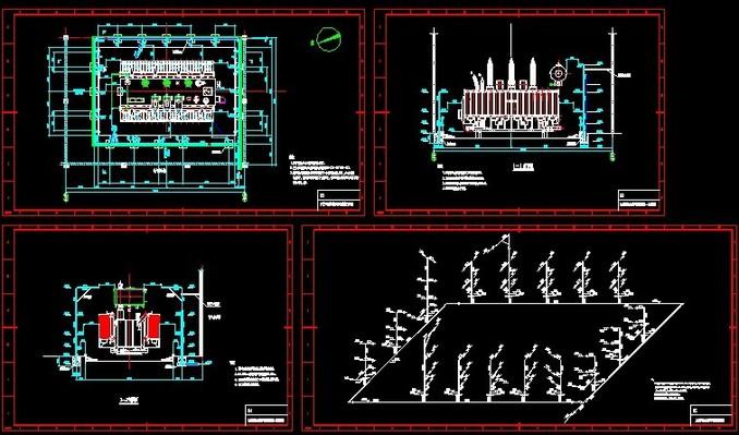 油浸式变压器水喷雾灭火系统全套施工图图片