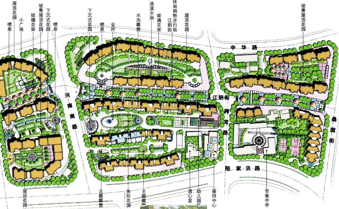 居住区平面图下载,居住区设计平面图,居住区入口平面图图片
