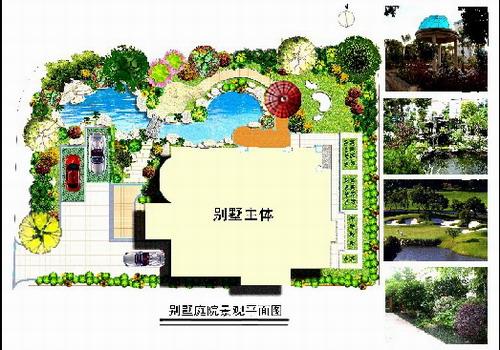 【庭院景观设计】别墅庭院景观设计方案_cad图纸下载