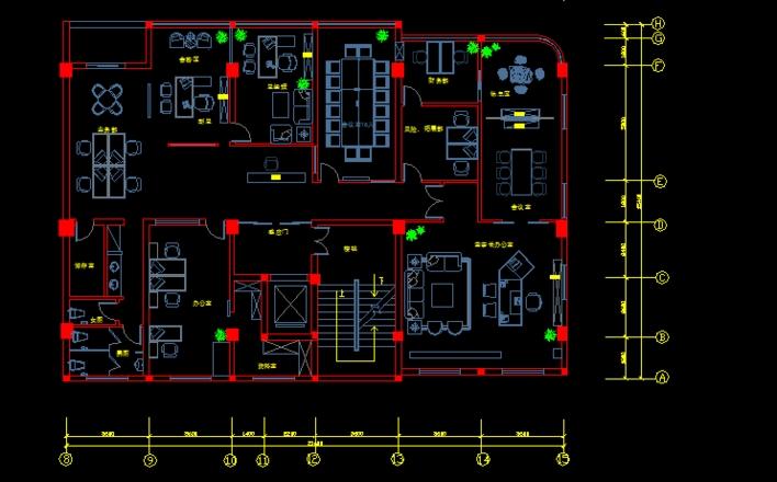 辦公空間設計,公司內部圖紙