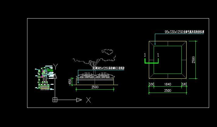 图纸 园林设计图  小品及配套设施(小区cad平面图下载)  花池树池设计