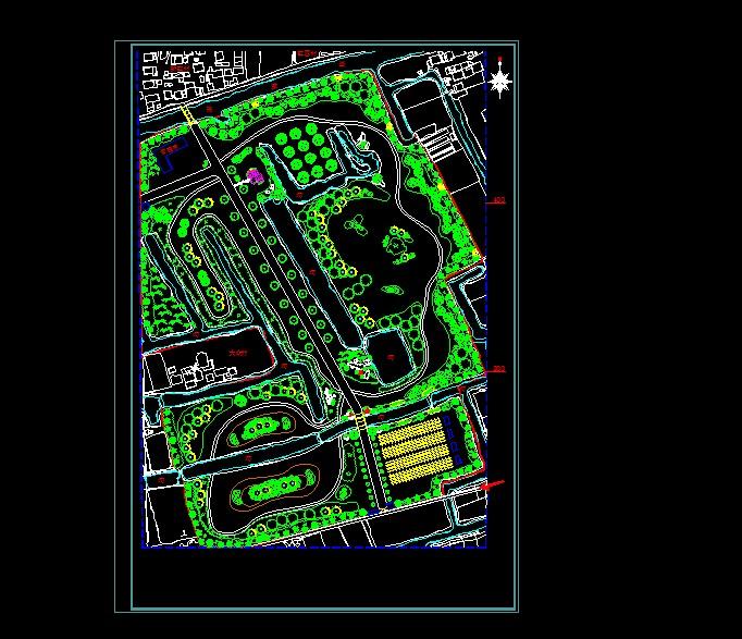 图纸 园林设计图 景观规划设计 公共绿地景观规划设计图 河北苗圃规划
