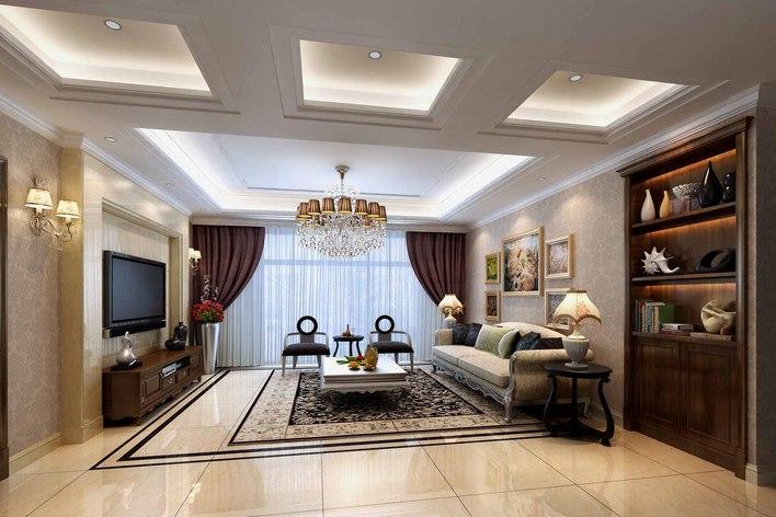 南通地区某现代简欧双层联排别墅装修图纸,含效果图 经典的简欧家装设