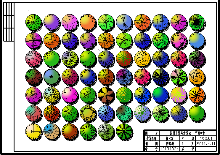 图纸 园林设计图 园林景观素材 植物素材图例 平面树木图例  上传时间