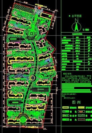 多层住宅小区规划总平面图