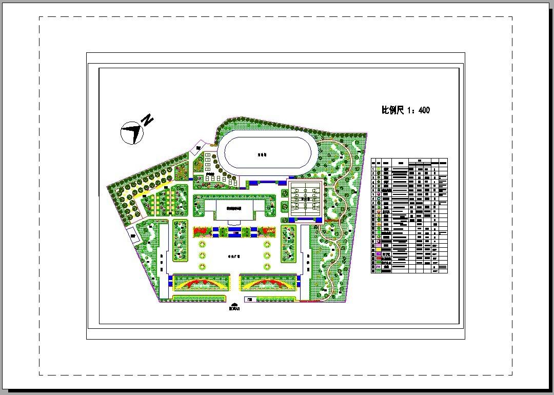 图纸 园林设计图  园林绿化及施工(绿化cad图纸)  医院学校绿化设计图