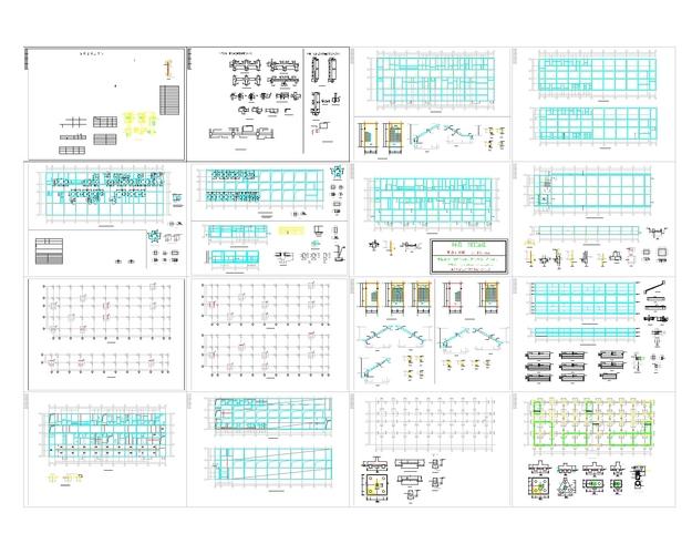 钢结构车间施工 生产车间设计图