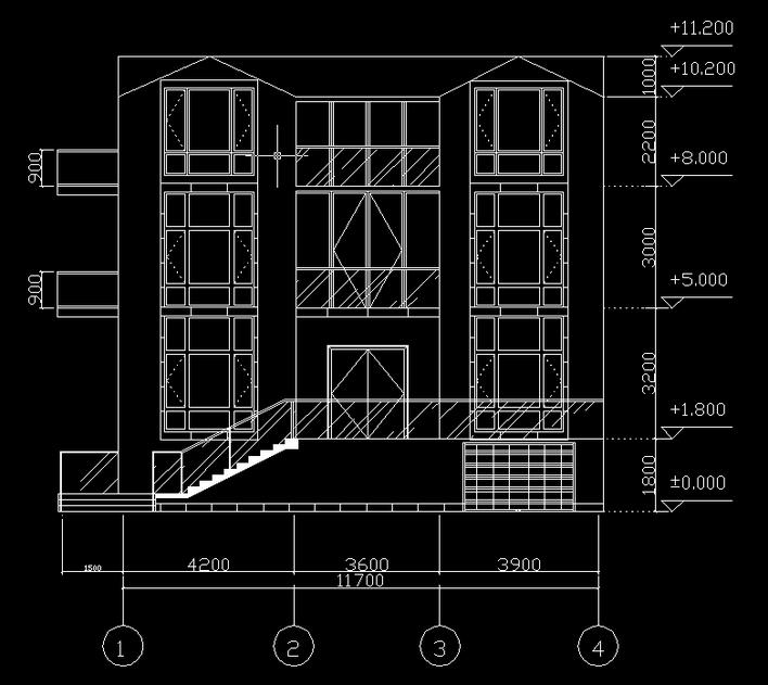 农民小洋房平面图,设计有一个2米的架空层  相关专题:别墅小洋房 小