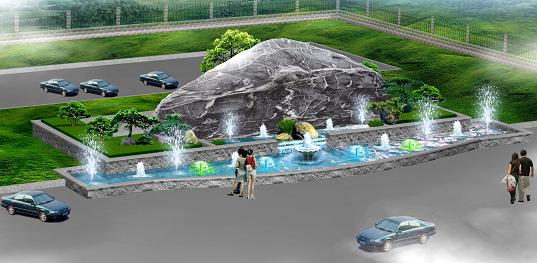 图小区景观效果图景观水池施工图小区景观设计效果图