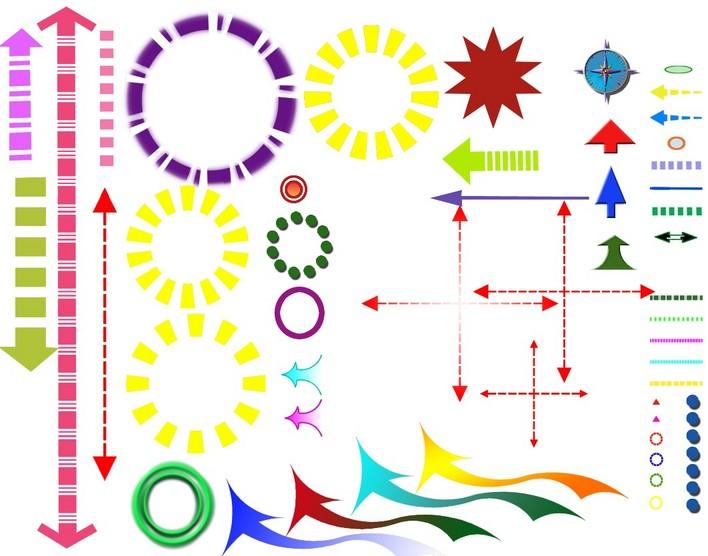 分析图必用的ps素材,很不错哟 分析图标 ps分析专用符号 ps格式景观分