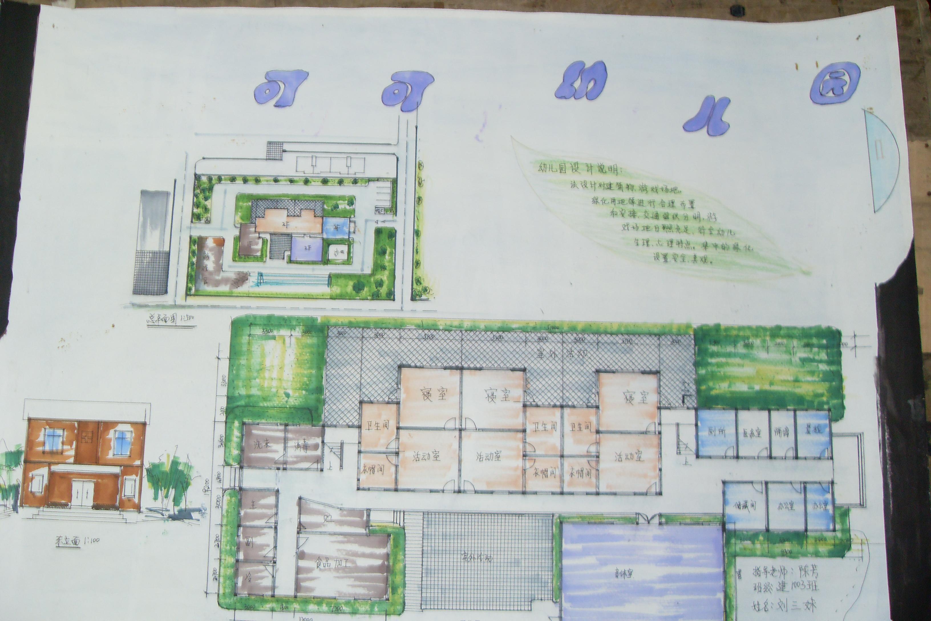 幼儿园活动区域平面设计图片展示