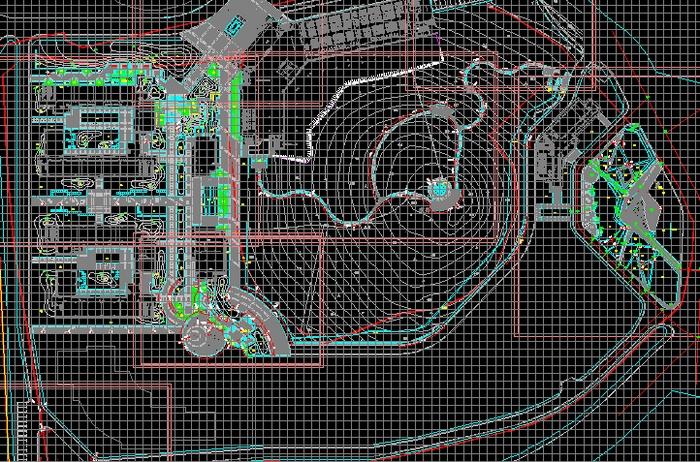 室外园林景观图纸   目录,分区总平面,生态控制区,停车场平面图,花池