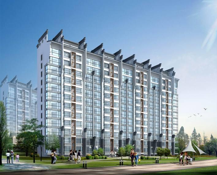 徽派建筑效果图 高层住宅室内效果图 欧式高层住宅效果图 小高层住宅