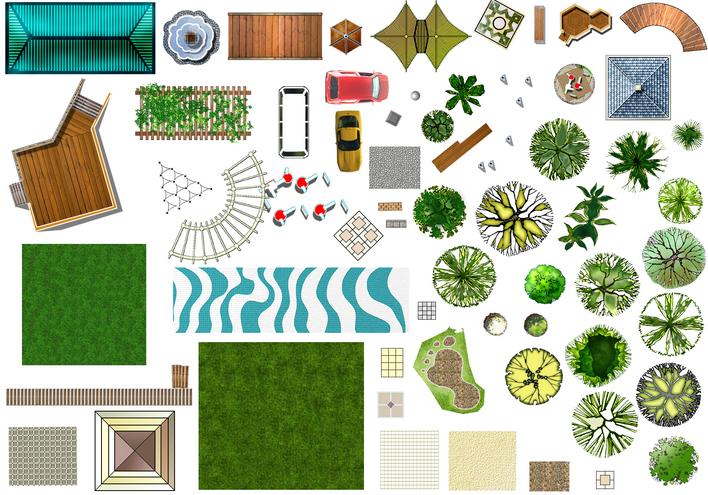 ps景观平面图 景观平面图ps ps总平面图  所属分类:植物素材 cad园林