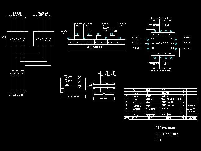ATS图纸制图图纸电气_cad原理下载2015cad三维控制图片