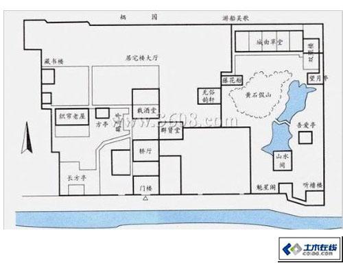 中国古典园林平面图