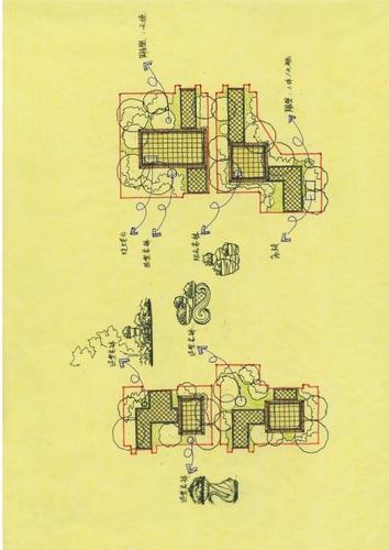 欧式风格小庭院设计(cad 手绘平面效果全套)