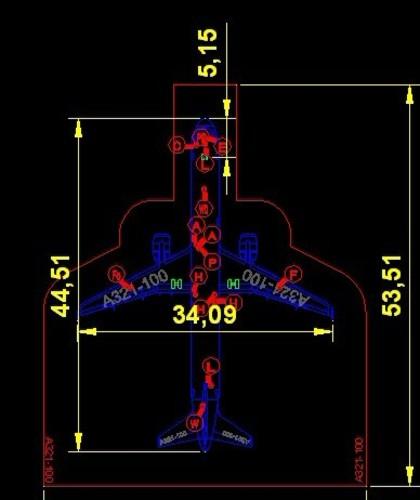民航飞机详细尺寸_cad图纸下载-土木在线