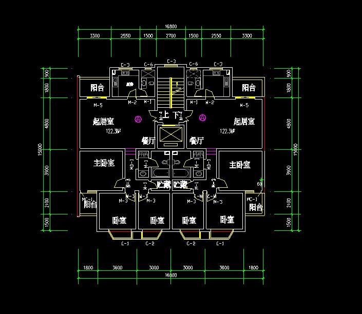 几十种住宅设计经典户型图