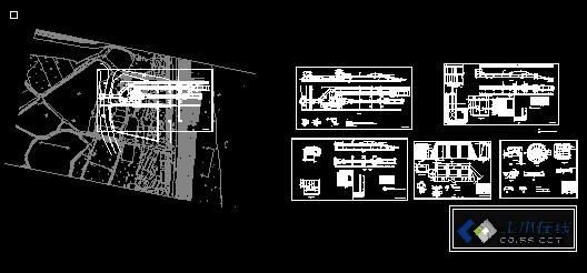 某大型排涝泵站建筑图(初设) 建筑结构设钢结构框架★★★★★.