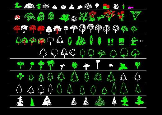园林景观绿化 欧式园林景观平面图 园林景观小品平面图 中式园林景观