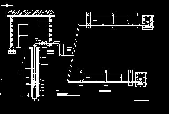 机井低压管道连接图(cad图纸下载)
