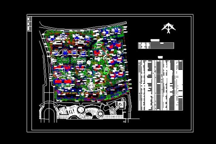 某住宅小区植物配置图