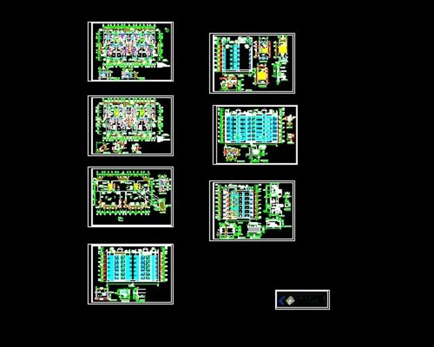 【蚌埠】某住宅小区六层住宅楼建筑结构水电燃施工图(多层建筑) 某