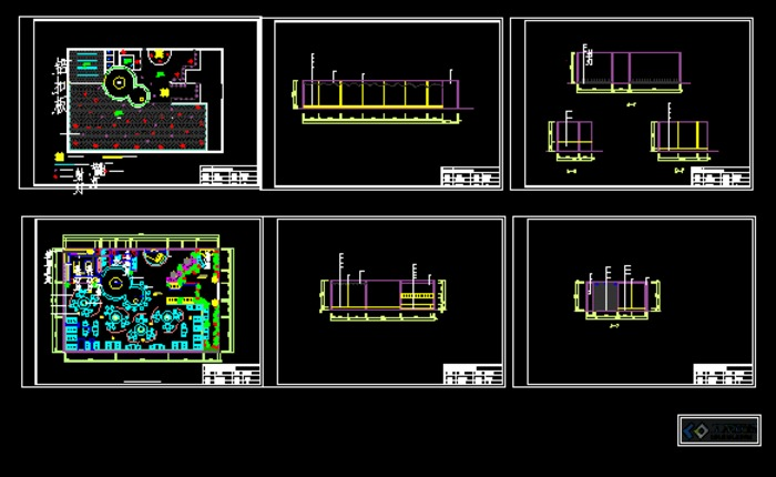 餐饮空间设计平面立面图