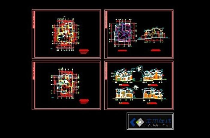 深圳市某小区欧式别墅建筑结构设计施工图纸