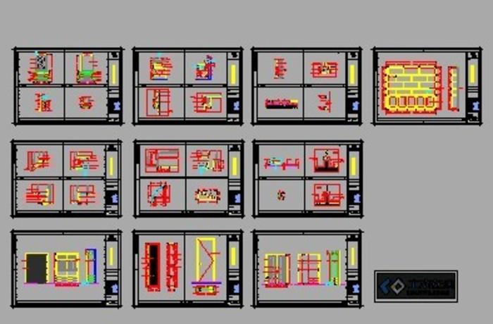 金图纸样板房施工图2_CO螳螂施工(原网易中土木在线模块是电气图片