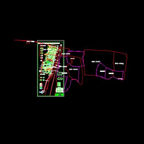 汽车维修站总平面图 广州保利世贸中心一期生活水泵房平面图,系统图