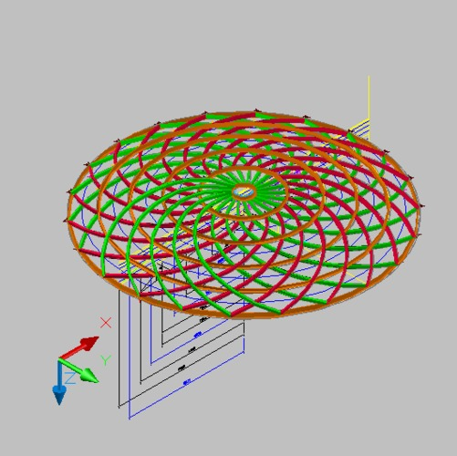 【钢架】圆弧钢架3d模型_cad图纸下载_土木在线