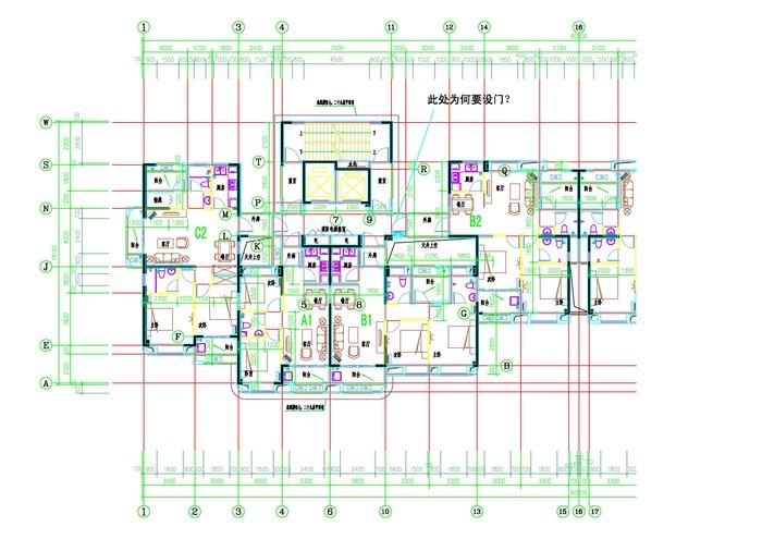【户型平面图】某小区高层户型平面图_cad图纸下载