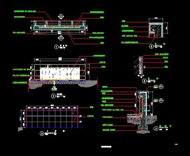 新中式入口景墙平立面详图设计施工图 ya-12驳岸特色景墙详图 10种图片