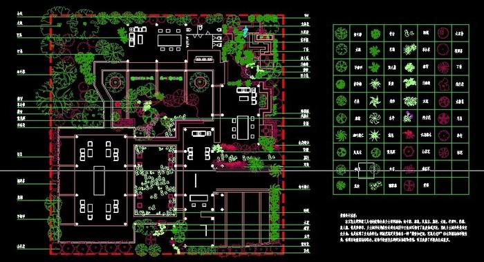植物配置施工图1